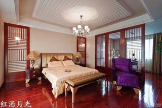 新古典风格公寓富裕型卧室隔断床效果图