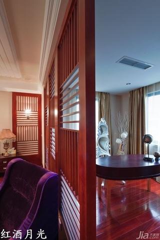 新古典风格公寓富裕型卧室隔断装修效果图