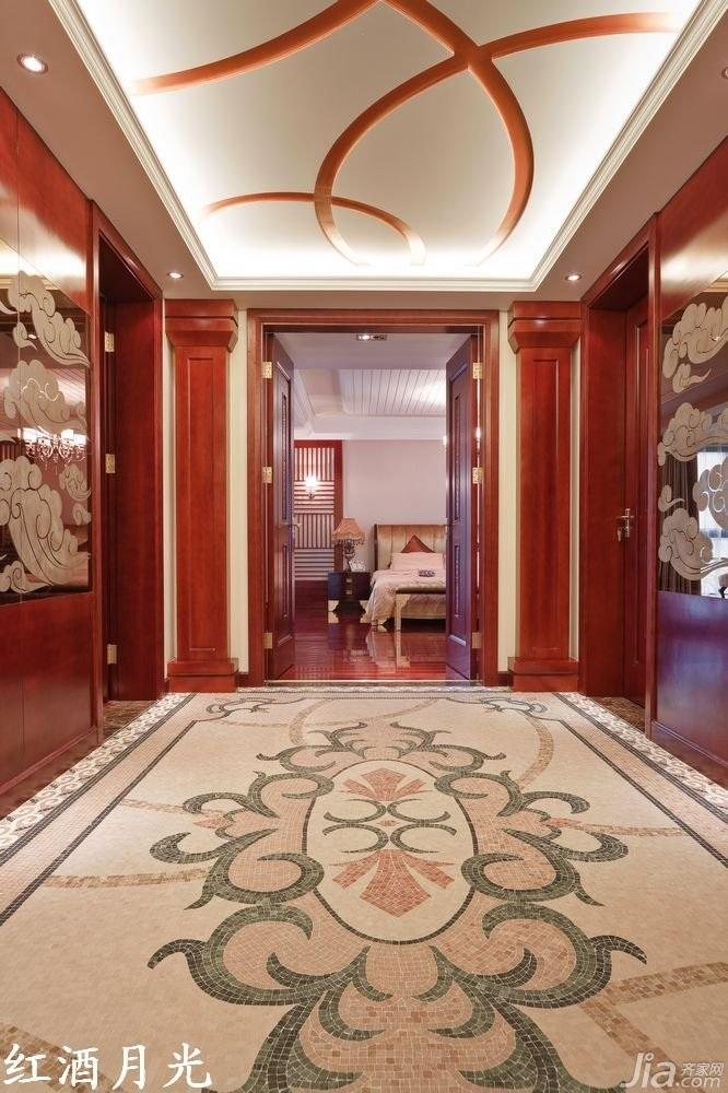 式公寓装修效果图新古典风格客厅效果图装修过道效果图客厅吊顶平面图