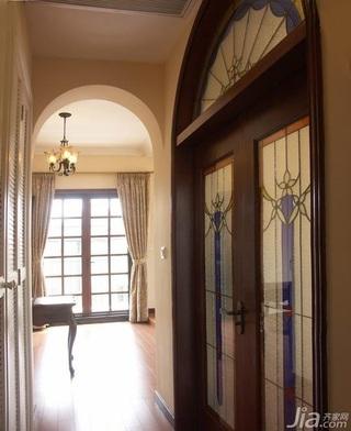 新古典风格别墅过道窗帘效果图