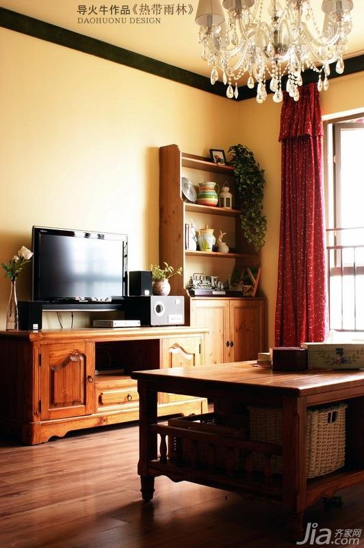 客厅电视背景墙茶几图片