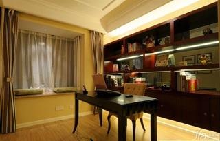 简约风格公寓富裕型书房飘窗书桌效果图
