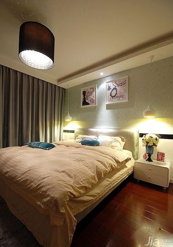 简约风格公寓卧室床效果图