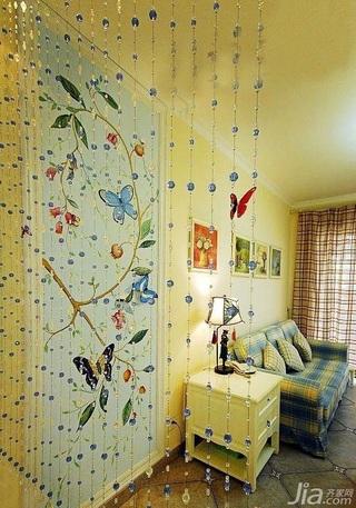 混搭风格三居室10-15万100平米客厅隔断婚房家装图片