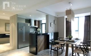 简约风格公寓豪华型140平米以上餐厅隔断餐桌效果图