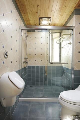 美式风格公寓130平米卫生间装潢