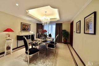 新古典风格别墅豪华型140平米以上餐厅吊顶餐桌图片