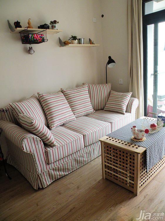 简约风格小户型简洁3万以下40平米客厅沙发背景墙沙发海外家居