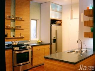 简欧风格复式富裕型厨房橱柜定做