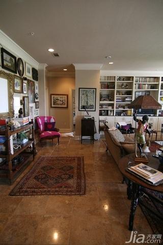 美式风格三居室富裕型客厅过道效果图