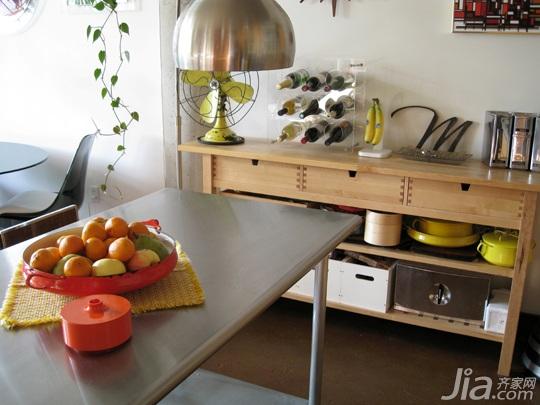 欧式风格公寓富裕型餐厅橱柜定做
