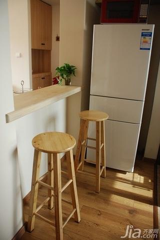 日式风格小户型经济型60平米吧台装修图片