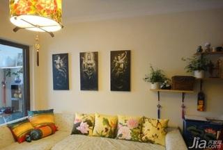 中式风格小户型经济型50平米客厅沙发效果图