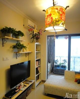 中式风格小户型经济型50平米客厅灯具效果图