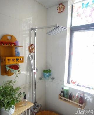 中式风格小户型经济型50平米卫生间装修效果图