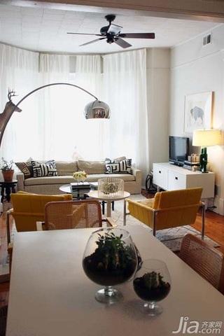 简约风格二居室简洁经济型客厅灯具效果图