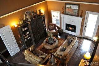 混搭风格别墅民族风富裕型客厅背景墙沙发海外家居