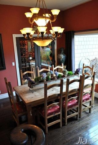 混搭风格别墅民族风富裕型餐厅灯具海外家居