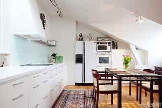 宜家风格公寓富裕型厨房橱柜安装图