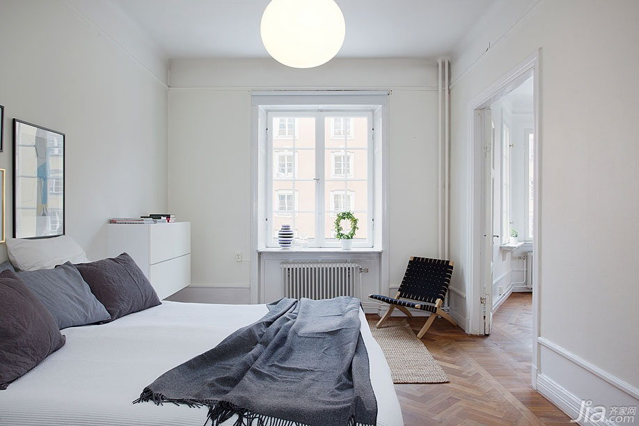 宜家风格二居室经济型卧室床效果图