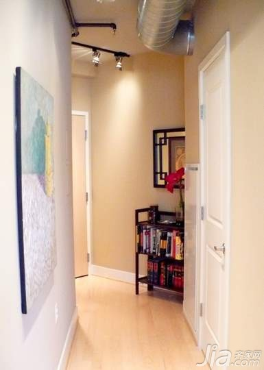 风格公寓富裕型90平米过道装修效果图高清图片