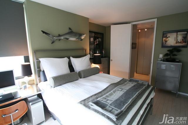 宜家风格公寓舒适富裕型90平米卧室床海外家居