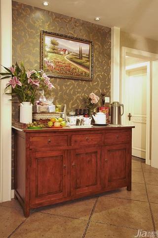 美式乡村风格三居室富裕型120平米餐边柜图片
