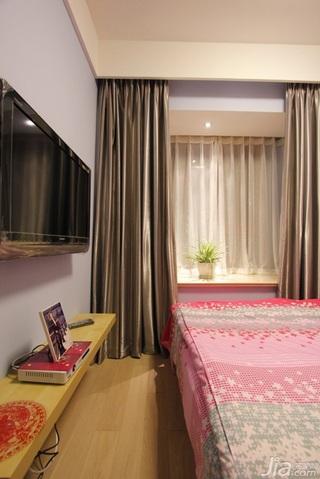 简约风格二居室经济型80平米卧室婚房平面图