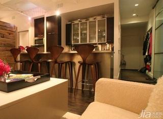 东南亚风格公寓120平米客厅吧台效果图