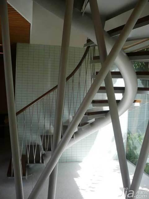 简约风格别墅时尚富裕型140平米以上楼梯海外家居