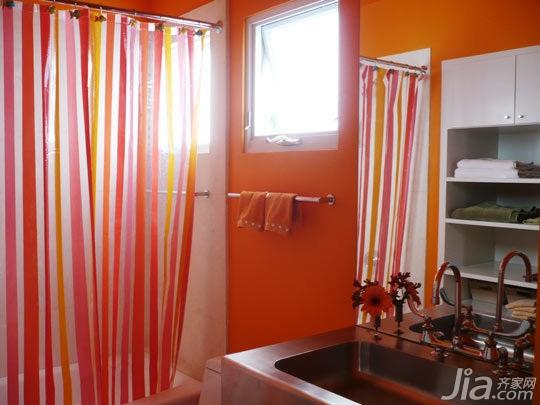 简约风格别墅橙色富裕型140平米以上洗手台海外家居