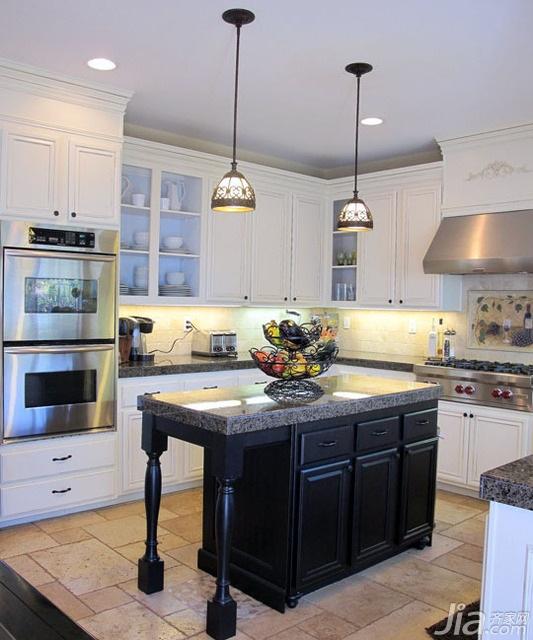 欧式风格别墅富裕型厨房吧台海外家居