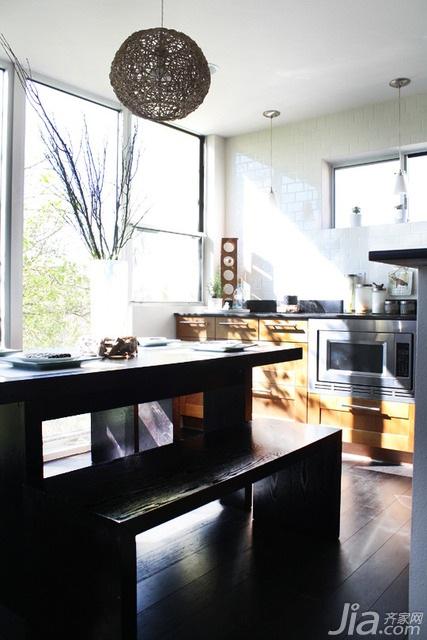 简约风格三居室富裕型厨房餐桌海外家居
