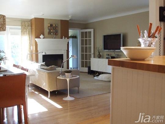 简约风格别墅简洁富裕型140平米以上客厅沙发海外家居