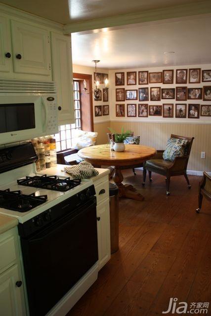 美式乡村风格别墅富裕型140平米以上厨房海外家居