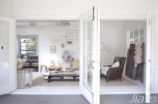 loft风格别墅白色豪华型隔断设计图