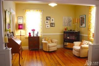 混搭风格别墅黄色富裕型140平米以上客厅沙发海外家居