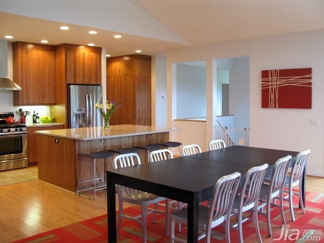 简约风格别墅富裕型厨房餐桌海外家居