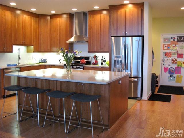 简约风格别墅富裕型厨房吧台吧台椅海外家居