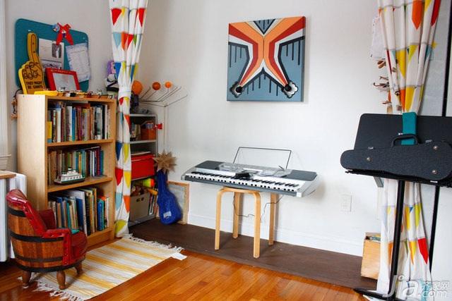 混搭风格别墅经济型140平米以上卧室书架海外家居