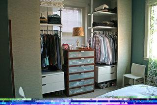 混搭风格公寓富裕型120平米卧室衣柜安装图