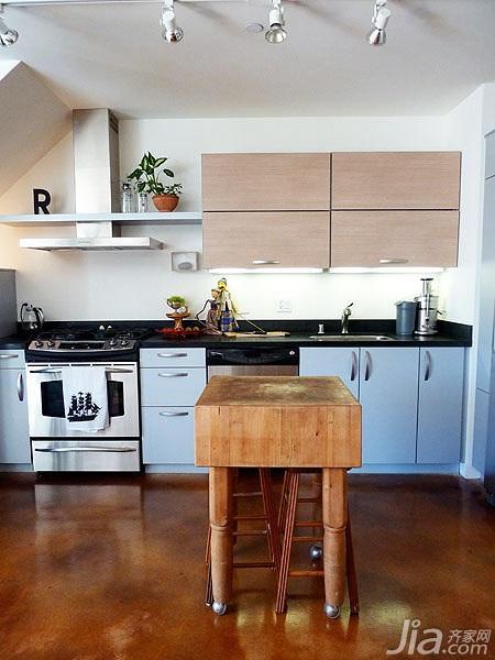 欧式风格公寓富裕型厨房吧台海外家居