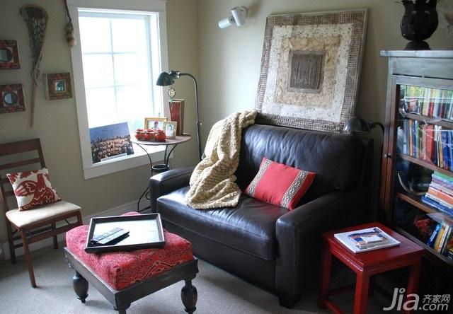 混搭风格别墅富裕型100平米客厅沙发海外家居