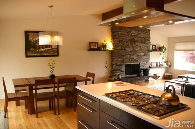 简约风格别墅富裕型110平米厨房餐桌海外家居