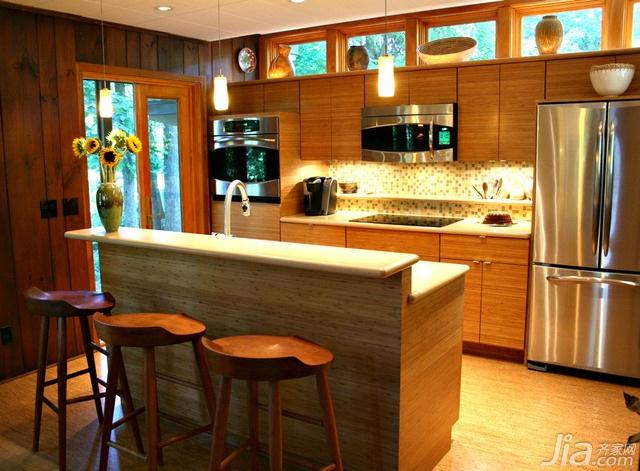 美式风格别墅富裕型厨房吧台吧台椅海外家居