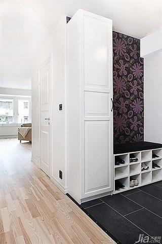 宜家风格公寓经济型门厅鞋柜效果图