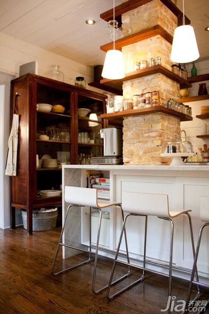 简约风格二居室经济型100平米厨房吧台海外家居