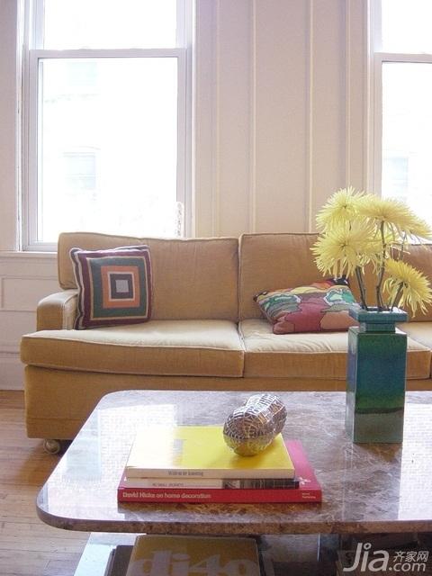 混搭风格小户型经济型70平米客厅沙发海外家居