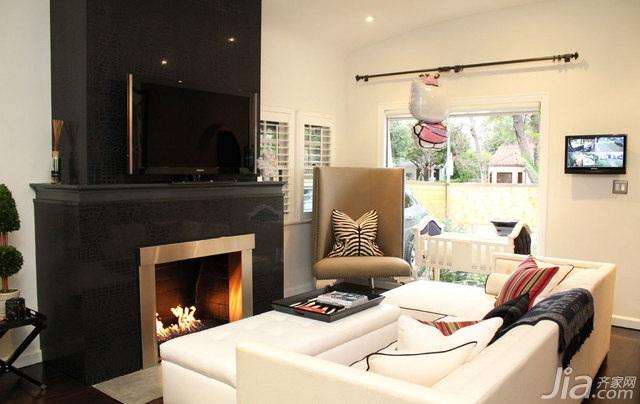 欧式风格别墅富裕型100平米客厅沙发海外家居