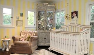 欧式风格别墅富裕型100平米儿童房儿童床海外家居